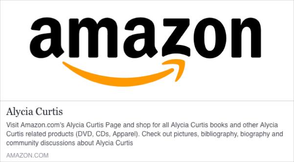Amazon Author Page Alycia Curtis